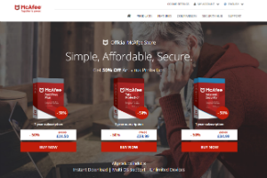 Cupom McAfee Total Protection 50% off