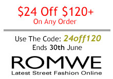 Промо-код Romwe – Скидка 24$